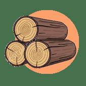 250 Га хвойного леса для заготовки срубов